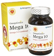 Metagenics - OmegaGenics Mega 10 Omega 7 + 3 Combination - 60 Softgels