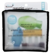 Blue Avocado - (Re)Zip Travel Reusable Storage Bag Quart Black