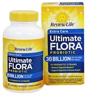ReNew Life - Ultimate Flora Extra Care Daily Probiotic 30 Billion - 30 Vegetarian Capsules