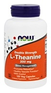 NOW Foods - L-Theanine Double Strength 200 mg. - 120 Vegetarian Capsules