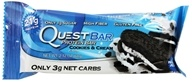 Quest Nutrition - Quest Bar Protein Bar Cookies & Cream - 2.12 oz. Former Packaging