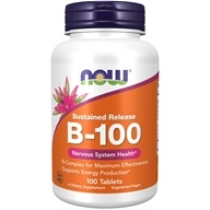 NOW Foods - B-100 Sustained Release - 100 Tablets