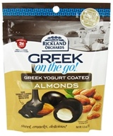 Rickland Orchards - Greek On The Go Whole Almonds with Greek Yogurt Coating Dark Chocolate Flavored - 5.5 oz.