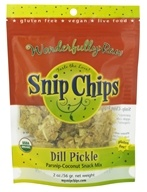 Wonderfully Raw - Snip Chips Parsnip-Coconut Snack Mix Dill Pickle - 2 oz.