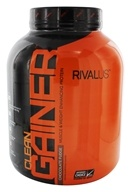 Rivalus - Clean Gainer Increases Muscle & Body Weight Rich Chocolate - 5 lbs.