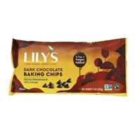 Lily's Chocolate - All Natural Dark Chocolate Premium Baking Chips - 9 oz.