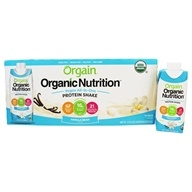 Orgain - Vegan Ready To Drink High Protein Nutritional Shake Sweet Vanilla Bean - 12 Pack