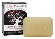 Dr. Woods - 100% Natural Shea Butter Facial Cleansing Bar Raw Black - 5.25 oz.