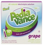 PediaVance - All-Natural Electrolyte Solution Grape - 10 x .34 oz. Liquid Sticks CLEARANCE PRICED