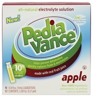 PediaVance - All-Natural Electrolyte Solution Apple - 10 x .34 oz. Liquid Sticks CLEARANCE PRICED