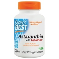 Doctor's Best - Best Astaxanthin Featuring AstaPure12 6 mg. - 90 Softgels