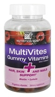 Nutrition Now - MultiVites Gummy Vitamins For Adults + Hair, Skin, And Nails Support - 70 Gummies