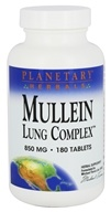Planetary Herbals - Mullein Lung Complex 850 mg. - 180 Tablets