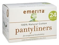 Emerita - Pantyliners 100% Natural Cotton Ultra-Thin - 24 Count