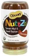 NuttZo - Organic Seven Nut & Seed Butter Creamy Chocolate - 16 oz.