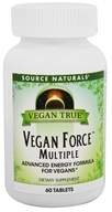 Source Naturals - Vegan True Vegan Force Multiple - 60 Tablets