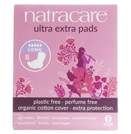 Natracare - Organic Cotton Cover Ultra Extra Long Pads - 8 Pad(s)