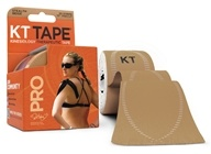 KT Tape - Pro Kinesiology Therapeutic Elastic Sports Tape Pre-Cut Strips Stealth Beige - 20 Strip(s)