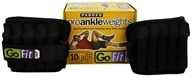GoFit - Pro Ankle Weights Padded - Pair - 10 lbs.
