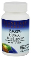 Planetary Herbals - Bacopa-Ginkgo Brain Strength 600 mg. - 60 Tablets