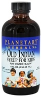 Planetary Herbals - Old Indian Syrup For Kids Wild Cherry - 8 oz.