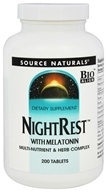 Source Naturals - NightRest With Melatonin - 200 Tablets