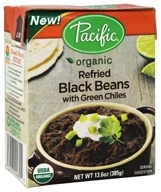 Pacific Natural Foods - Organic Refried Black Beans with Green Chiles - 13.6 oz.