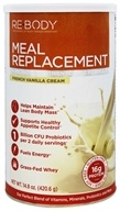 ReBody - Meal Replacement + Probiotics Nutrient-Dense Formula French Vanilla Cream - 14.8 oz.