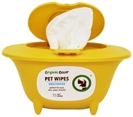 Organic Oscar - Pet Wipes Unscented - 75 Wipe(s)
