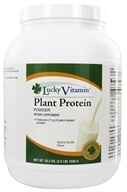 LuckyVitamin - Plant Protein Powder Natural Vanilla Flavor - 2.2 lbs.