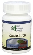 Ortho Molecular Products - Reacted Iron - 60 Capsules