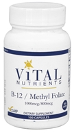 Vital Nutrients - Vitamin B-12 / Methyl Folate - 100 Vegetarian Capsules