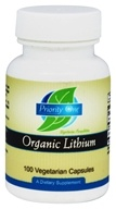 Priority One - Organic Lithium 5 mg. - 100 Vegetarian Capsules