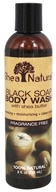 Shea Natural - Black Soap Body Wash with Shea Butter Fragrance Free - 8 oz.