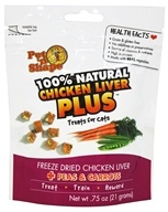 Pet 'N Shape - 100% Natural Chicken Liver Plus Treats For Cats Peas & Carrots - 0.75 oz.