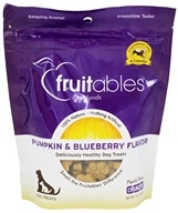 Fruitables Pet Food - 100% Natural Freshly Baked Crunchy Dog Treats Pumpkin & Blueberry Flavor - 7 oz.