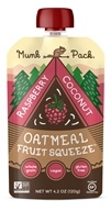 Munk Pack - Gluten Free Oatmeal Fruit Squeeze Raspberry Coconut - 4.2 oz.