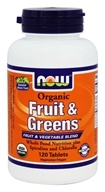 NOW Foods - Organic Fruit & Greens - 120 Tablets