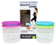 Fit & Fresh - Healthy Living 1 Cup Smart Portion Containers - 10 Piece(s)