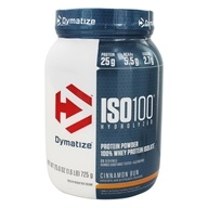 Dymatize Nutrition - ISO 100 100% Hydrolyzed Whey Protein Isolate Cinnamon Bun - 1.6 lbs.