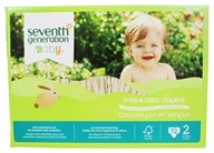Seventh Generation - Free and Clear Baby Diapers Stage 2 (12-18 lbs) - 72 Diaper(s)