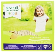 Seventh Generation - Free and Clear Baby Diapers Stage 6 (35+ lbs.) - 40 Diaper(s)