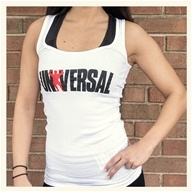 Universal Nutrition - Universal Ladies White Classic Tank Large (L)