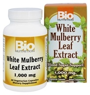 Bio Nutrition - White Mulberry Leaf Extract 1000 mg. - 60 Vegetarian Capsules
