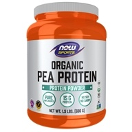 NOW Foods - Organic Pea Protein Pure Non-GMO Plant Protein Natural Unflavored - 1.5 lbs.