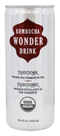 Kombucha Wonder Drink - Organic Sparkling Fermented Tea Traditional - 8.4 oz.