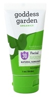 Goddess Garden - Facial Natural Sunscreen 30 SPF - 1 oz.
