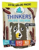 Plato Pet Treats - Thinkers Dog Treats Pacific Salmon Sticks - 22 oz.