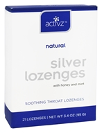 Activz - Silver Natural Soothing Throat Lozenges Honey and Mint - 21 Lozenges