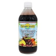 Dynamic Health - Organic Turmeric and Ginger Tonic Tart Cherry - 16 oz.